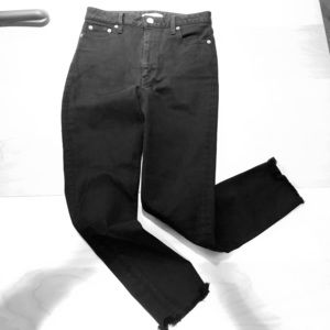 Moussy Black High Rise Skinny Ankle Jeans